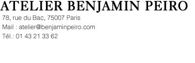 ATELIER BENJAMIN PEIRO